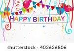 birthday decoration background  | Shutterstock .eps vector #402626806
