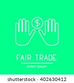 fair trade logotype for marking ... | Shutterstock .eps vector #402630412