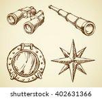 old navy ocean schoone ocular ... | Shutterstock .eps vector #402631366
