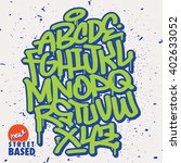 handlettering graffiti font   Shutterstock .eps vector #402633052