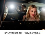 celebrity couple in back of a... | Shutterstock . vector #402639568