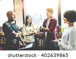 classmate classroom sharing... | Shutterstock . vector #402639865
