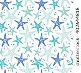 cute hand drawn texture  marine ... | Shutterstock .eps vector #402644818