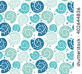 cute hand drawn texture  marine ... | Shutterstock .eps vector #402644836
