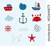 creative hand drawn textures ... | Shutterstock .eps vector #402644875