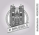 vector line brussels badge | Shutterstock .eps vector #402650152