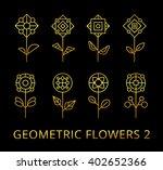 vector geometric flowers. set... | Shutterstock .eps vector #402652366