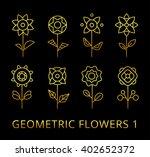 vector geometric flowers. set... | Shutterstock .eps vector #402652372