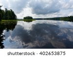 Clouds reflecting in lake Keitele