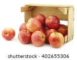 fresh sweet small apples in a...   Shutterstock . vector #402655306