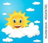 vector isolated character sun | Shutterstock .eps vector #402656782