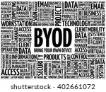 byod   bring your own device... | Shutterstock .eps vector #402661072