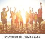 teenagers friends beach party... | Shutterstock . vector #402661168