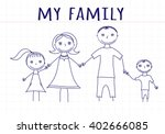 picture of happy family. child... | Shutterstock .eps vector #402666085