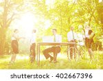 environmental friendly themed... | Shutterstock . vector #402667396