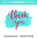 thank you card  ink hand... | Shutterstock .eps vector #402675148