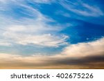 colorful dramatic sky with... | Shutterstock . vector #402675226
