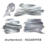 Silver Iron Foil Stroke. Silver ...