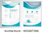 vector brochure flyer design... | Shutterstock .eps vector #402687286