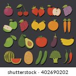 set of fruits and vegetables... | Shutterstock .eps vector #402690202