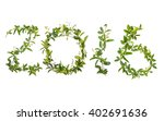 2016 word of creeper flower... | Shutterstock . vector #402691636