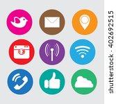 icons social media network ... | Shutterstock .eps vector #402692515