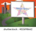movie news showing picture show ... | Shutterstock . vector #402698662