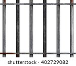 Stock photo heavy metal prison style bars isolated on a white background d illustration 402729082
