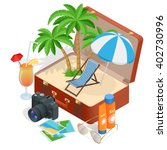 summer vacation. passenger... | Shutterstock .eps vector #402730996
