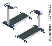 treadmill  isometric vector... | Shutterstock .eps vector #402746332