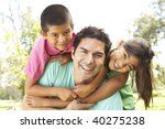 father with children in park | Shutterstock . vector #40275238