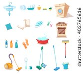 set of cleaning supplies | Shutterstock .eps vector #402765616