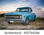 the chevrolet truck parking at...