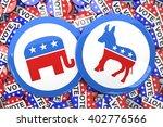 badge against badges vote | Shutterstock . vector #402776566