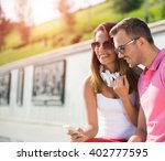 having weekend in summer park | Shutterstock . vector #402777595