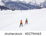 cross country skiing in nature... | Shutterstock . vector #402796465