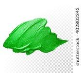 vector green watercolor brush...   Shutterstock .eps vector #402802342