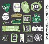fresh healthy organic vegan... | Shutterstock .eps vector #402802492
