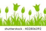 Seamless Vector Tulips Border...