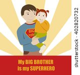 big brother and little sister.... | Shutterstock .eps vector #402820732