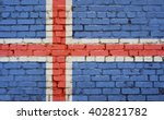 Flag Of Iceland Painted On...