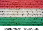 Flag Of Hungary Painted On...