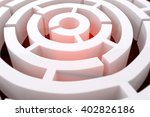 Circle Maze Against Abstract...