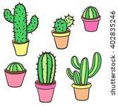 cactus set. vector collection... | Shutterstock .eps vector #402835246