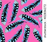 pattern of ethnic plume | Shutterstock .eps vector #402836272