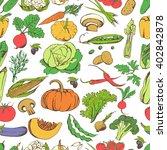 hand drawn seamless pattern... | Shutterstock .eps vector #402842878