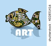 modern art therapy poster with... | Shutterstock .eps vector #402851416