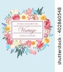 shabby chic vector background | Shutterstock .eps vector #402860548