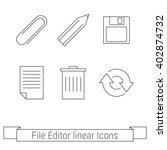 set of otline web icons ...
