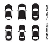 set of top view car silhouettes ... | Shutterstock .eps vector #402875035